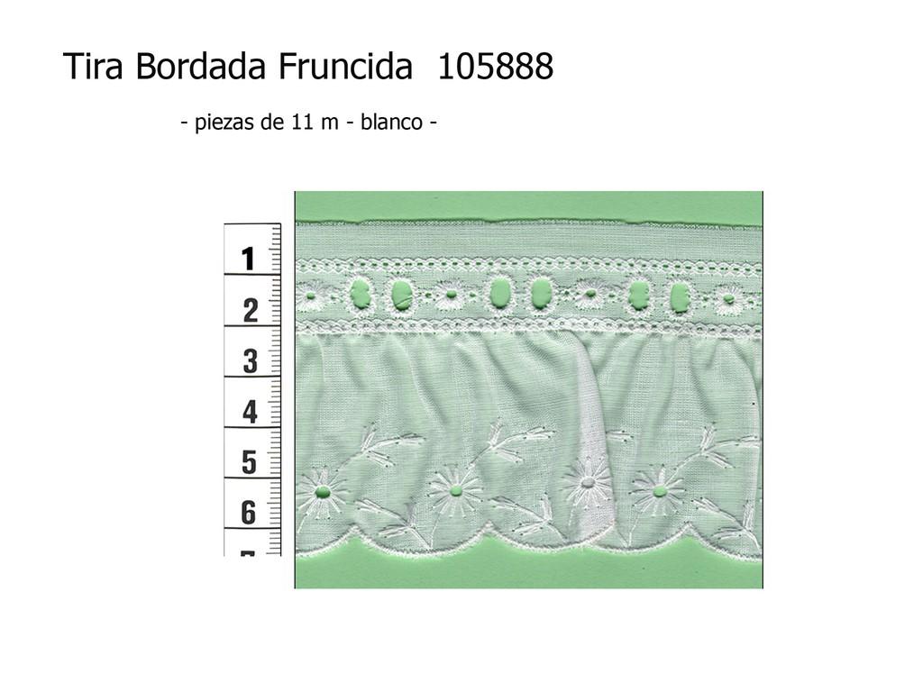 Tira bordada fruncida 105888