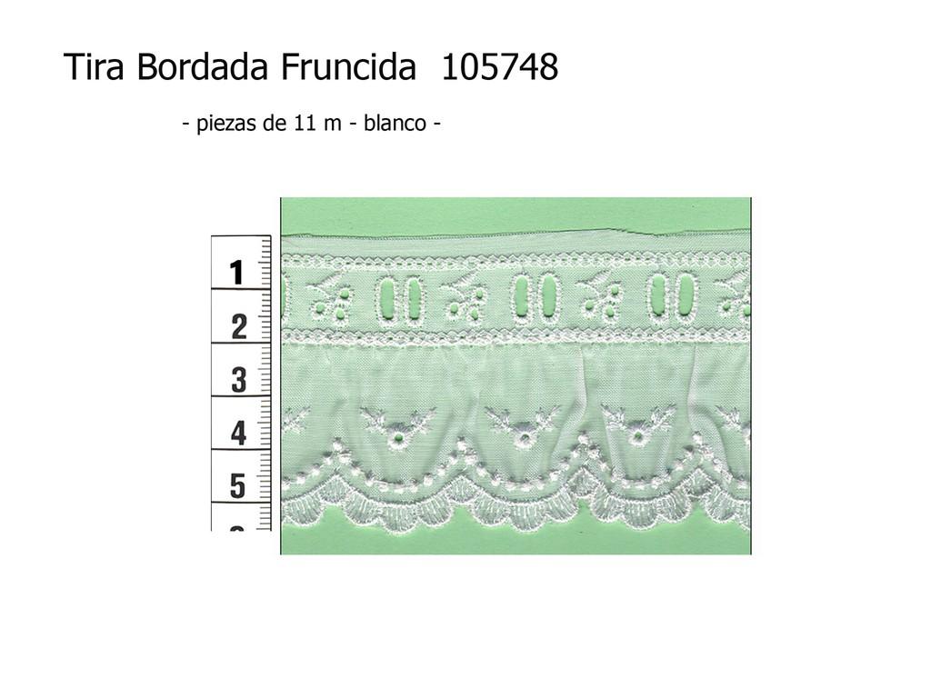 Tira bordada fruncida 105748