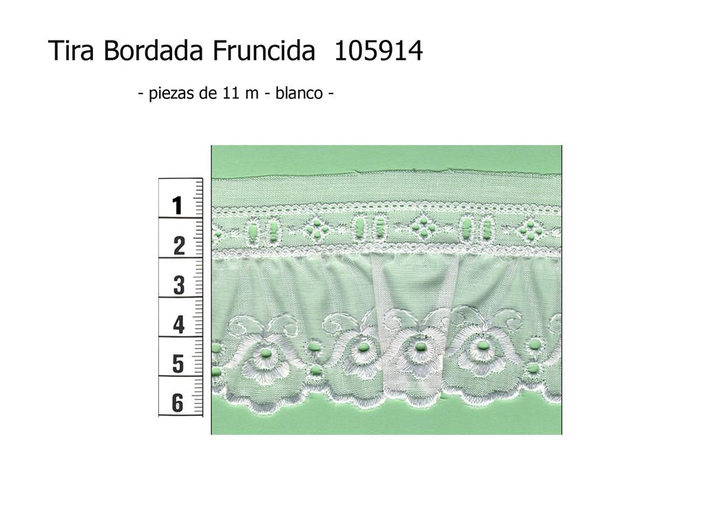 Tira bordada fruncida 105914