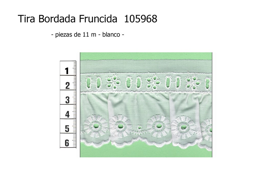 Tira bordada fruncida 105968