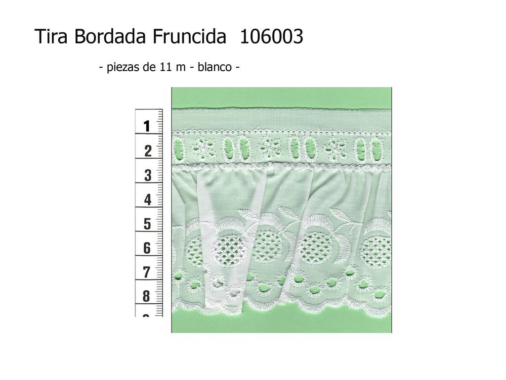 Tira bordada fruncida 106003