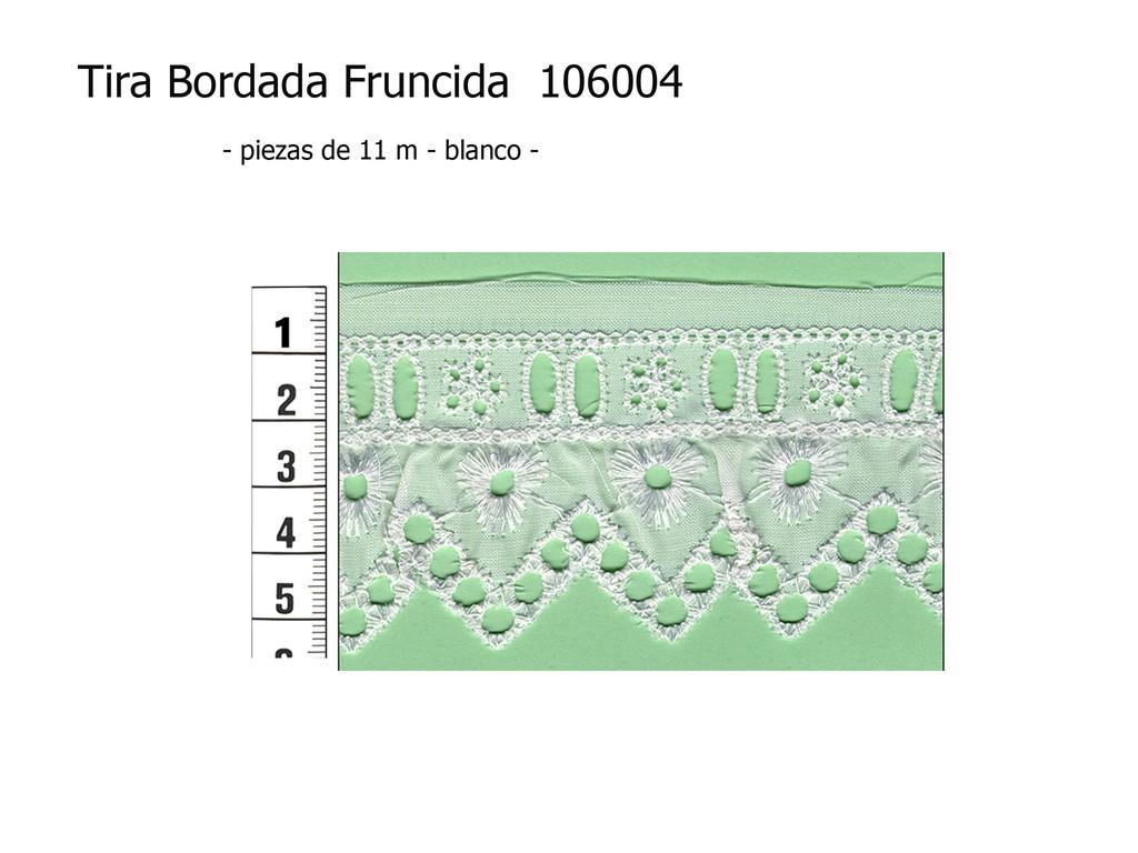 Tira bordada fruncida 106004