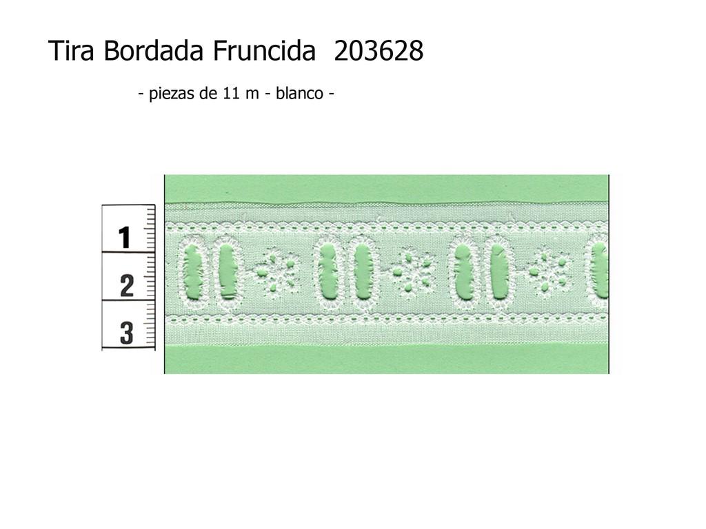 Tira bordada fruncida 203628