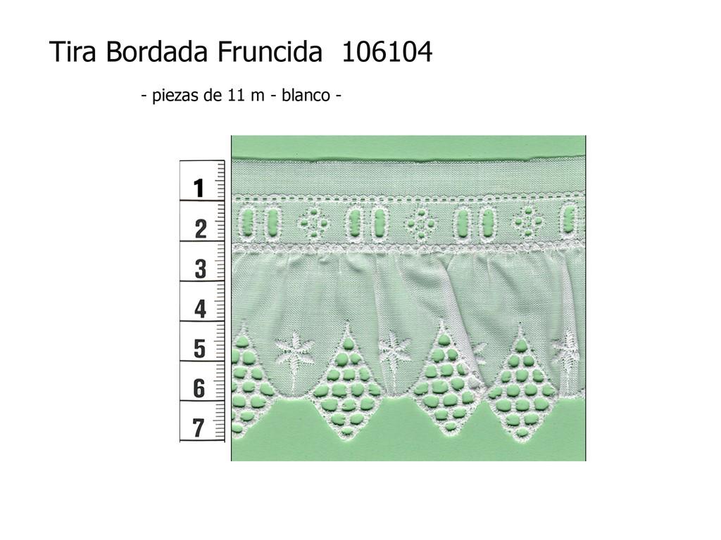 Tira bordada fruncida 106104