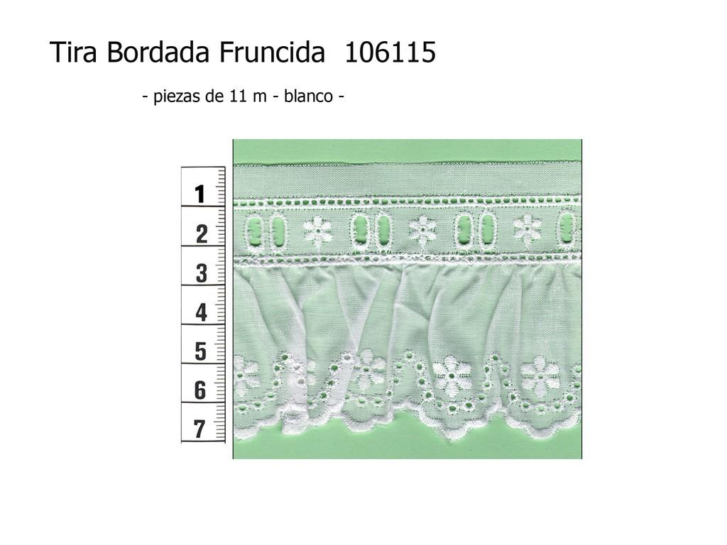 Tira bordada fruncida 106115