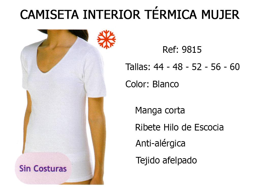 CAMISETA INTERIOR TERMICA MUJER 9815