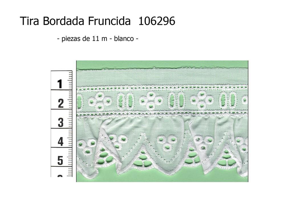Tira bordada fruncida 106296