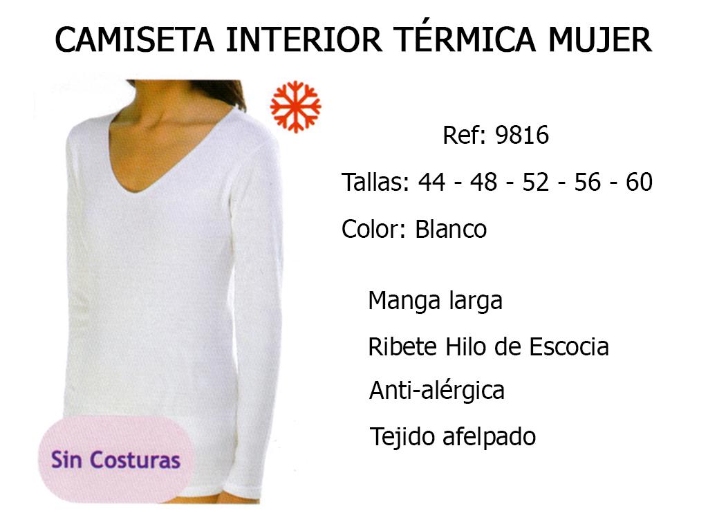 CAMISETA INTERIOR TERMICA MUJER 9816