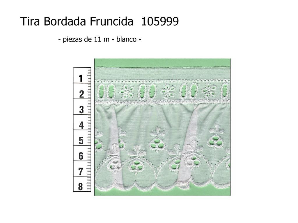 Tira bordada fruncida 105999