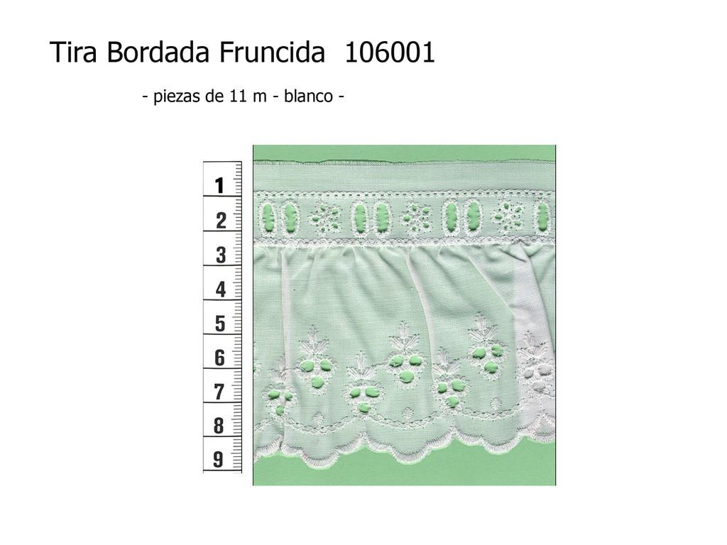 Tira bordada fruncida 106001