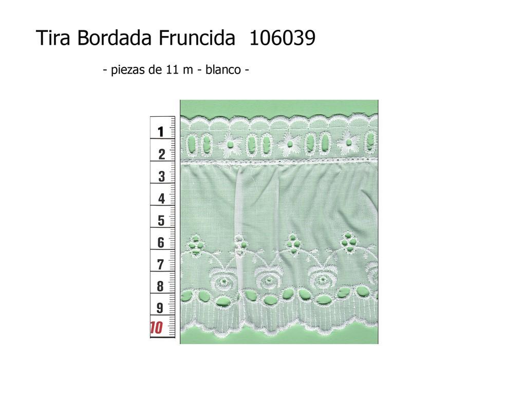 Tira bordada fruncida 106039