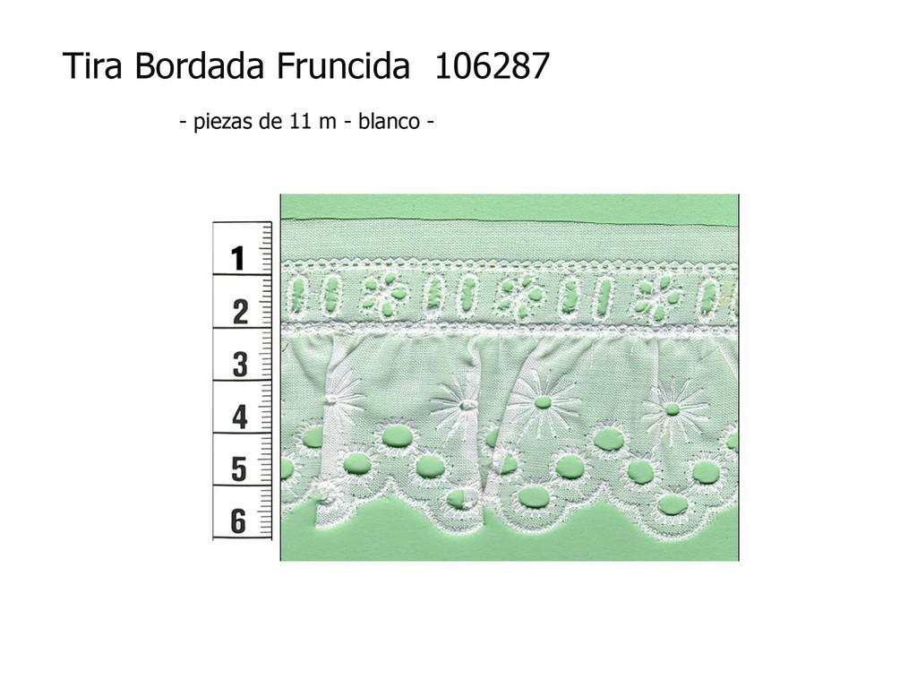 Tira bordada fruncida 106287