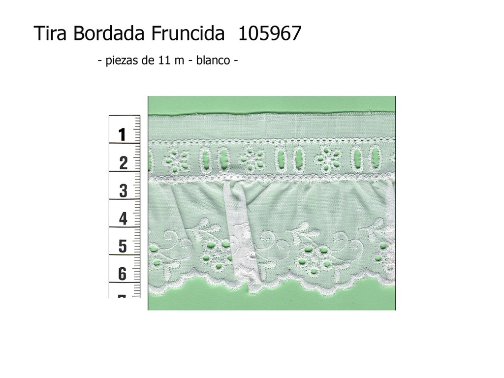 Tira bordada fruncida 105967