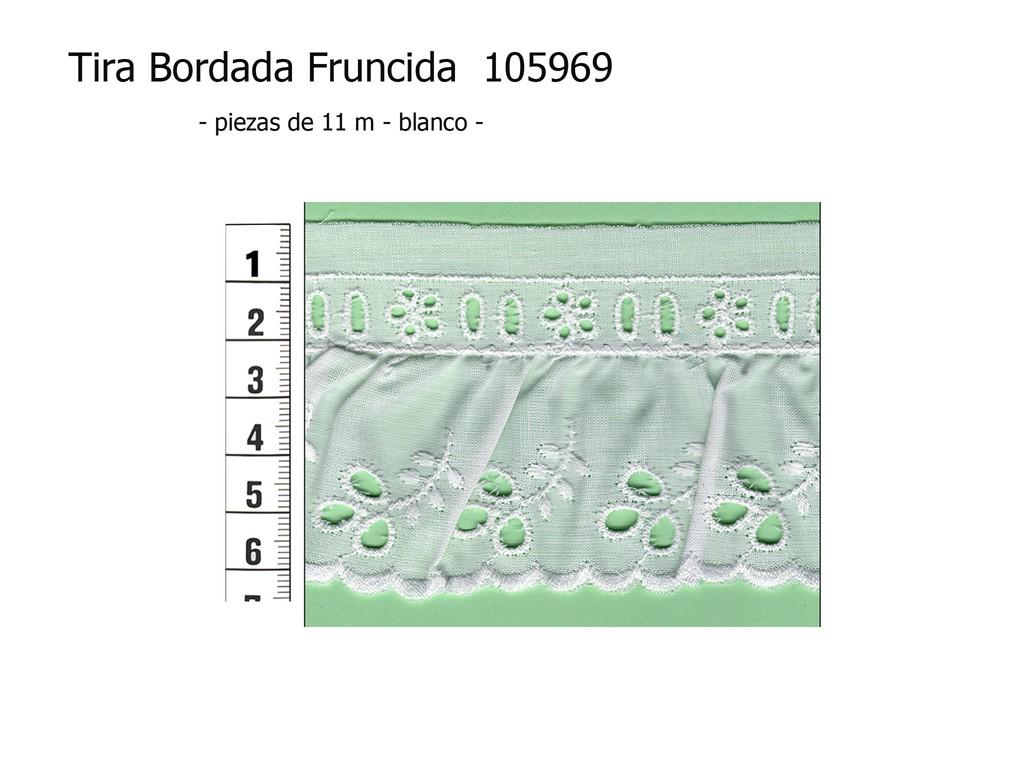 Tira bordada fruncida 105969