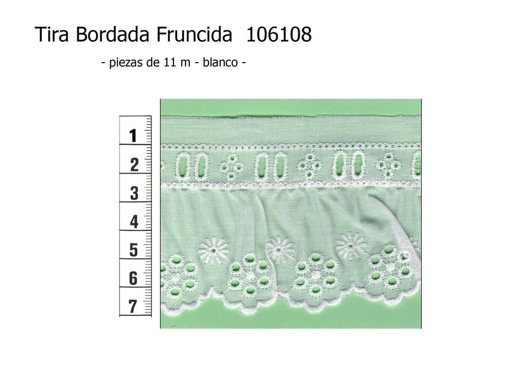 Tira bordada fruncida 106108