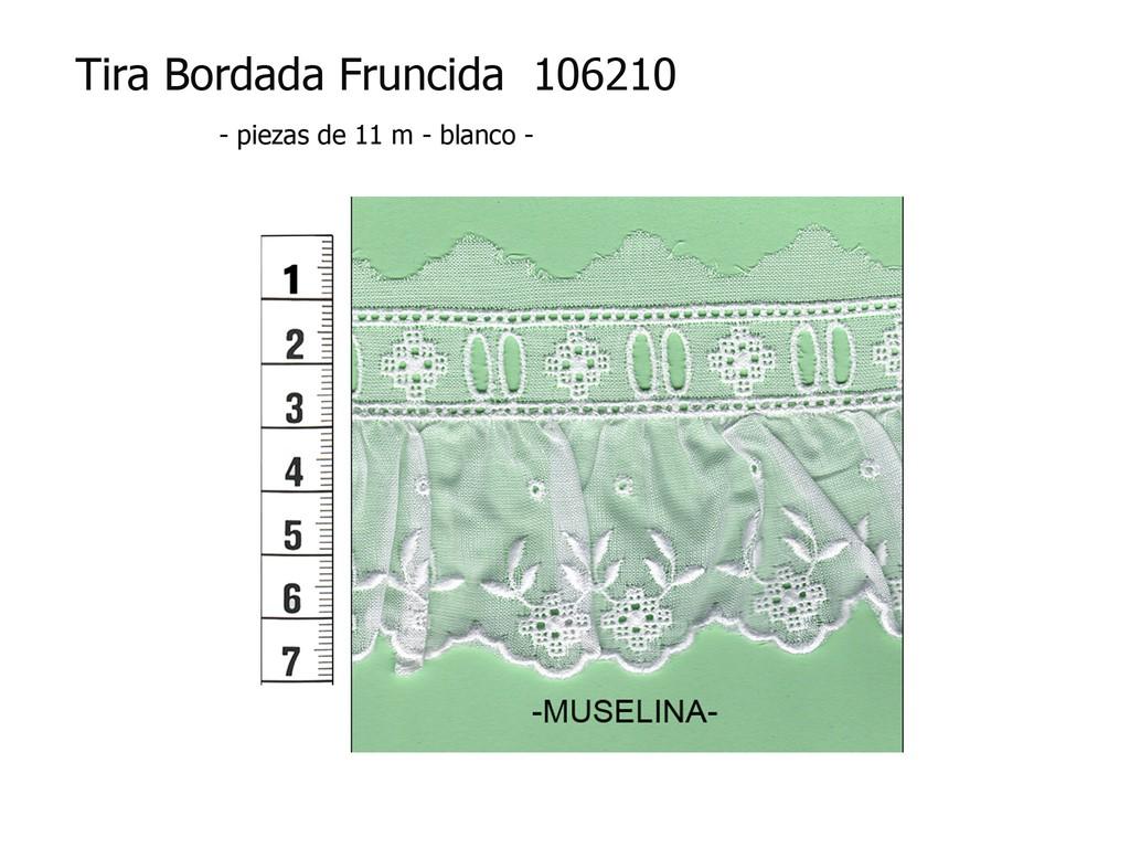 Tira bordada fruncida 106210 muselina