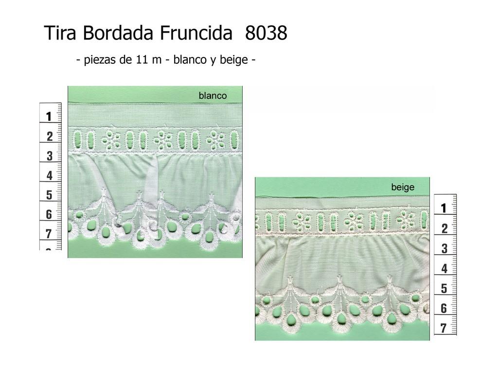 Tira bordada fruncida 8038