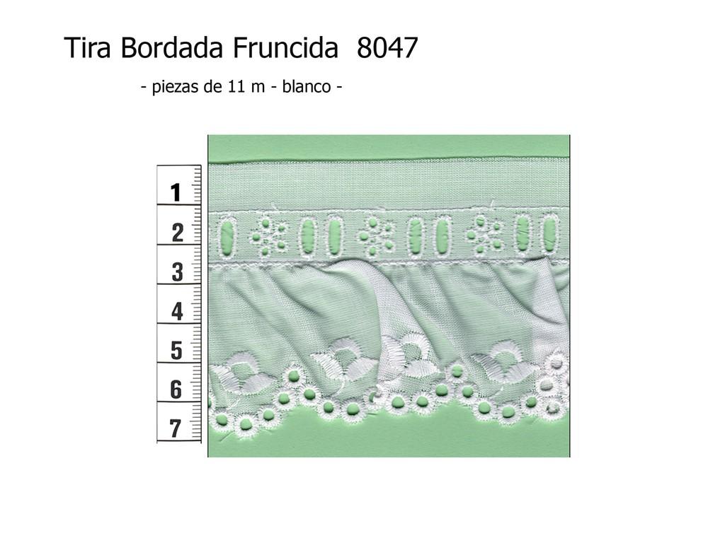 Tira bordada fruncida 8047