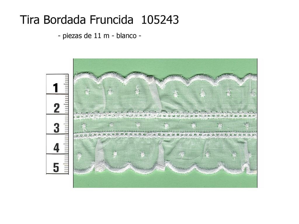 Tira bordada fruncida 105243