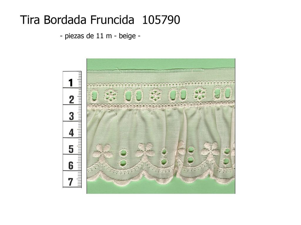 Tira bordada fruncida 105790
