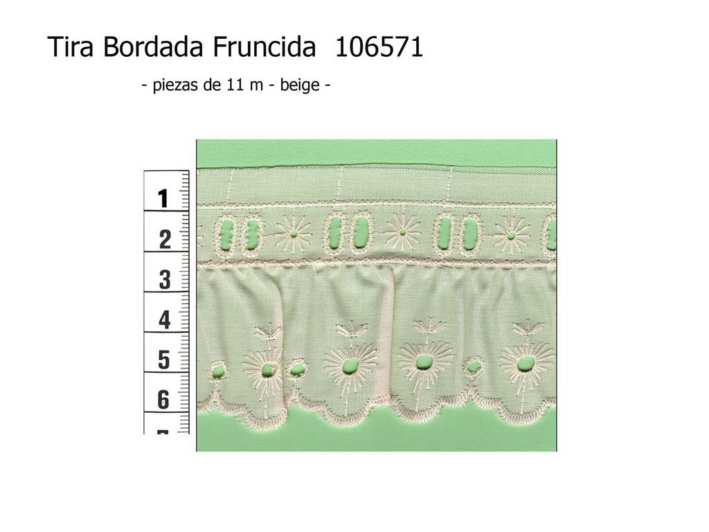 Tira bordada fruncida 106571