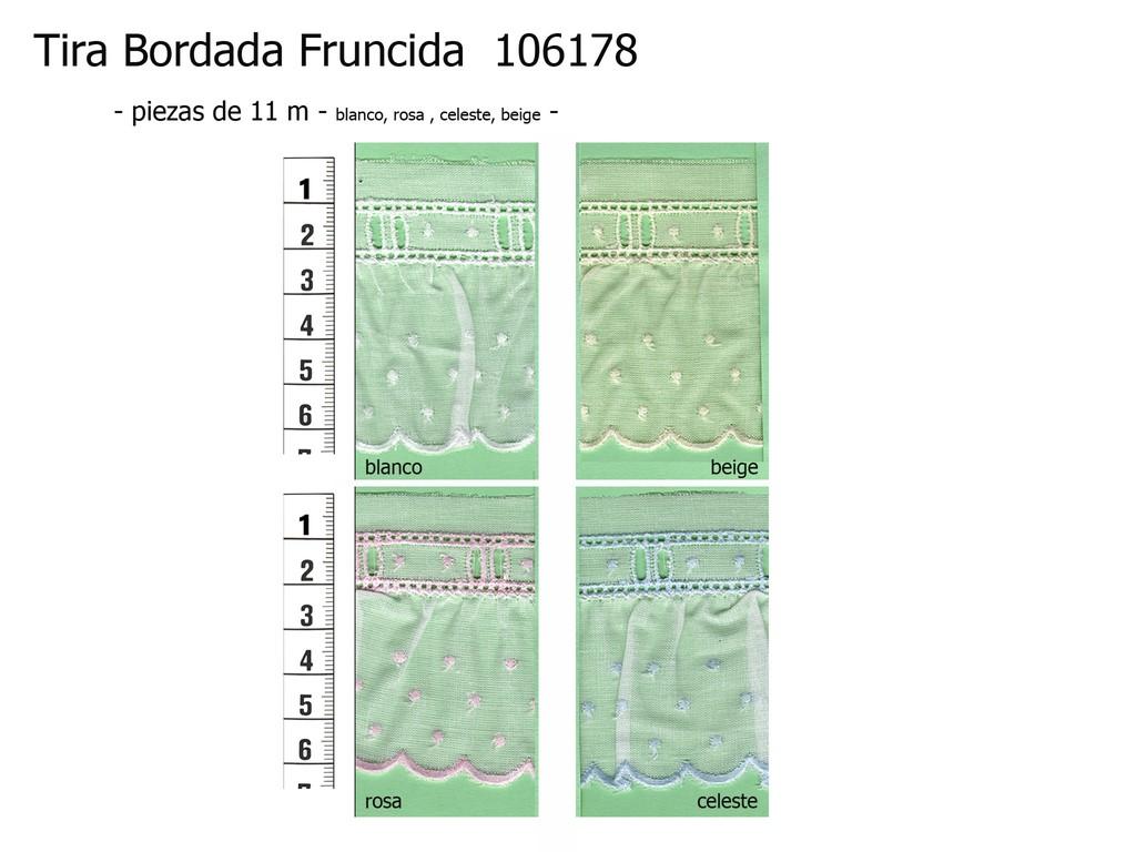 Tira bordada fruncida 106178 colores