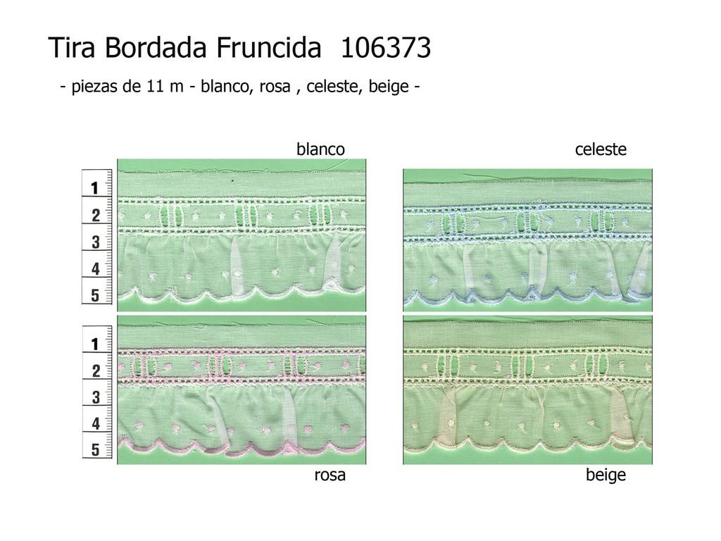 Tira bordada fruncida 106373 colores