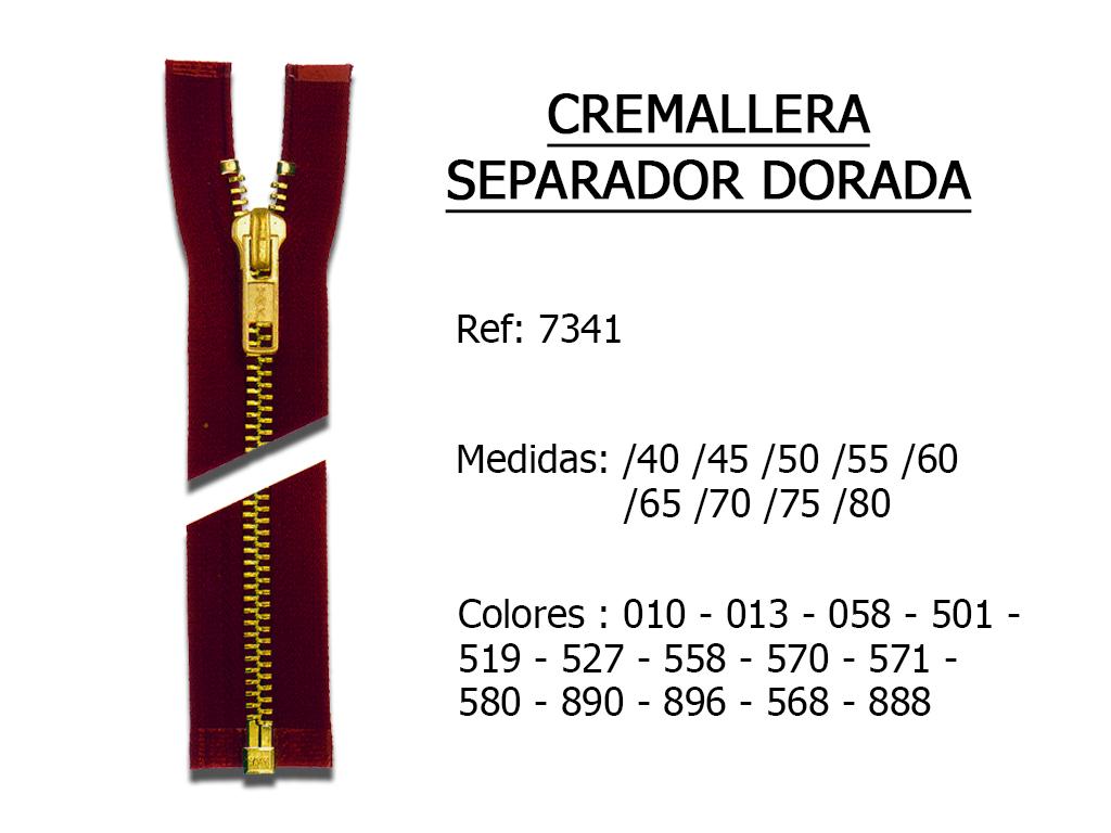 CREMALLERA SEPARADOR DORADA 7341