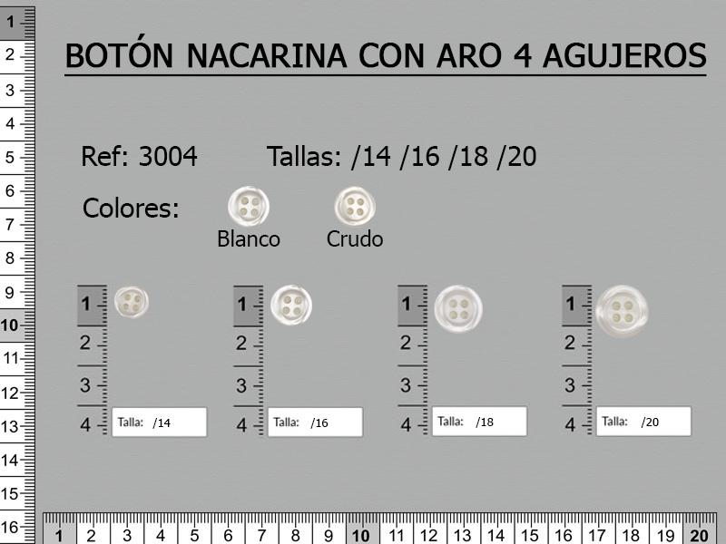 BOTONES NACARINA 3004