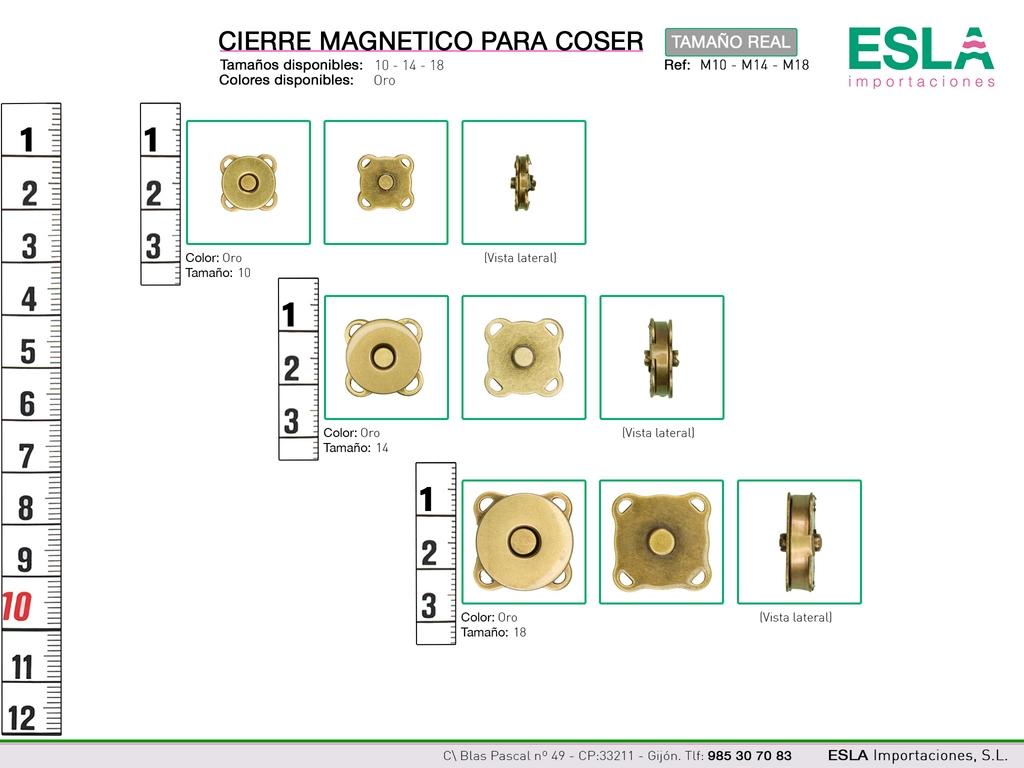 CIERRE MAGNETICO REF M10 M14 M18