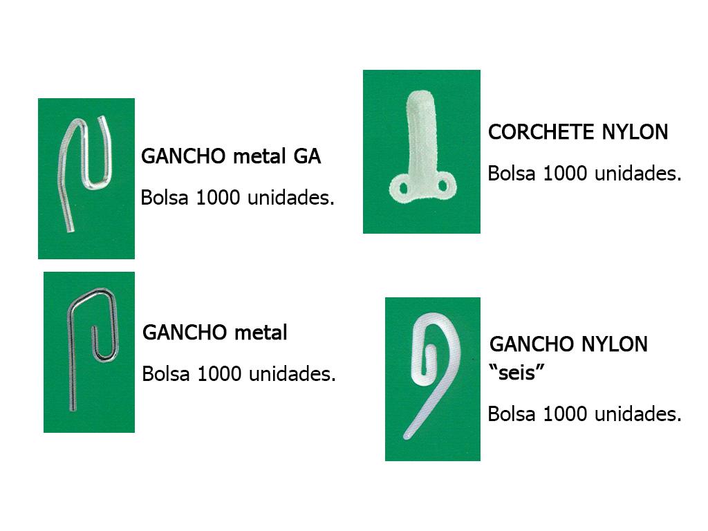GANCHOS Y CORCHETES PARA CINTAS DE CORTINA