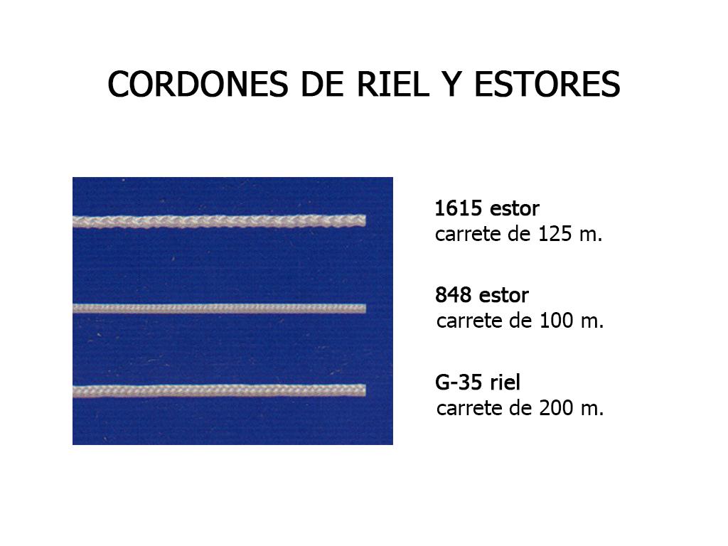 CORDONES DE RIEL Y ESTORES