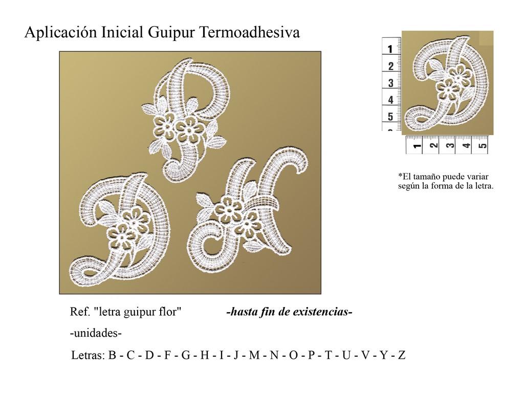 Letra guipur flor