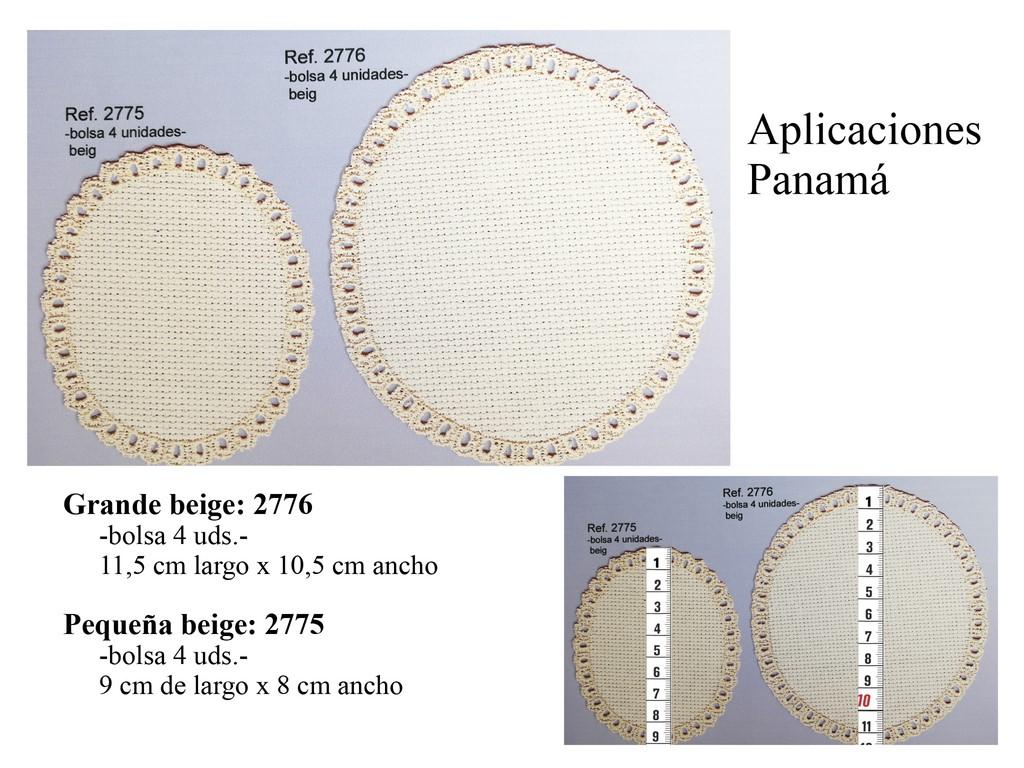Aplicaciones panamá beige 2775 y 2776