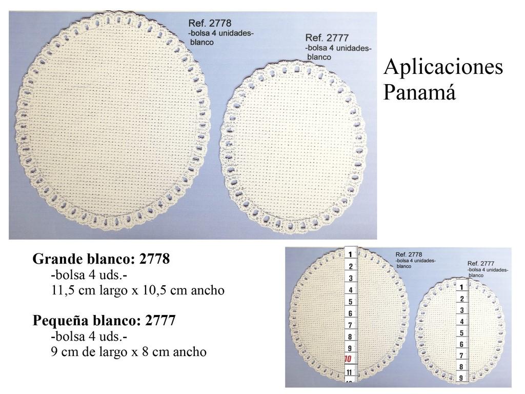 Aplicación panamá ovalada blanco 2777 y 2778