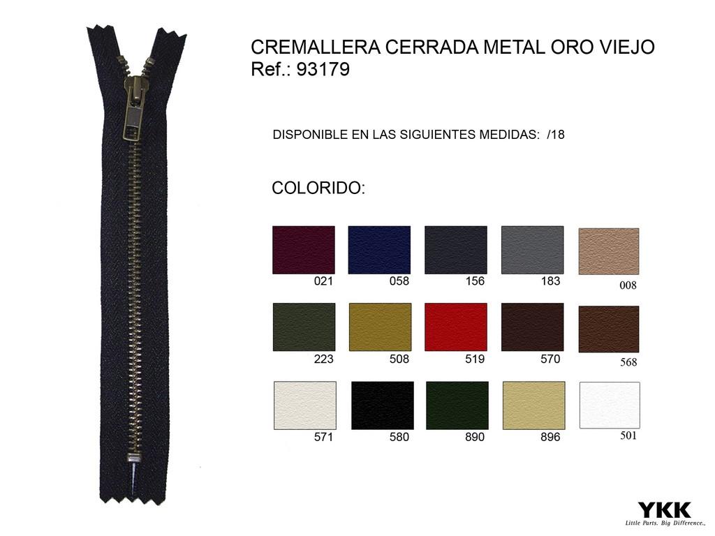 Cremallera 93179