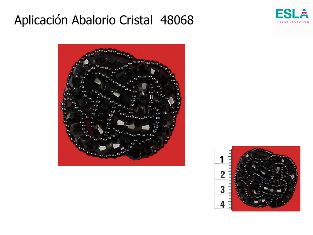 Aplicación Abalorio Cristal 48068