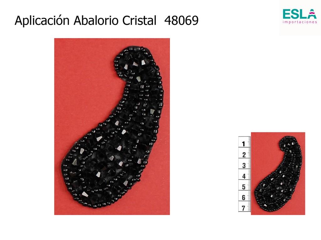 Aplicación Abalorio Cristal 48069
