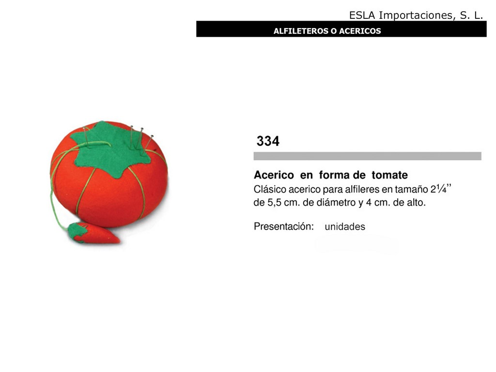 Alfiletero tomate 334