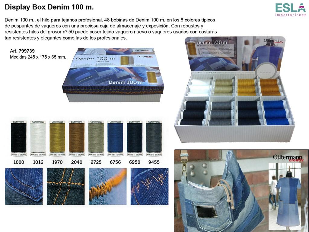 Expositor hilos denim 799739 gutermann