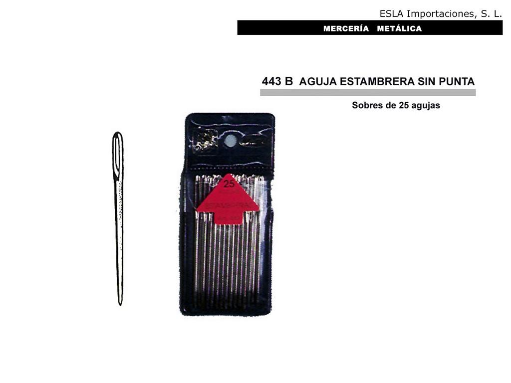 AGUJA ESTAMBRERA SIN PUNTA 443B