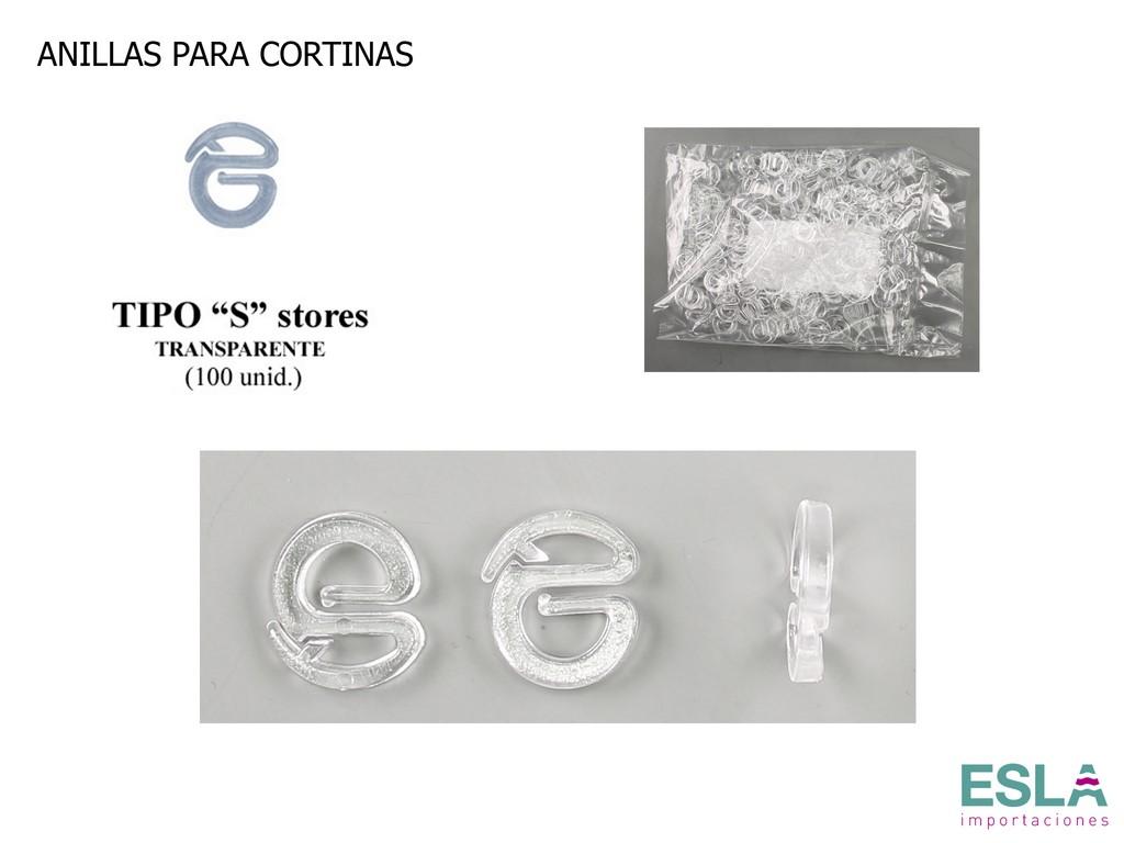 Anilla tipo S cortinas AST10