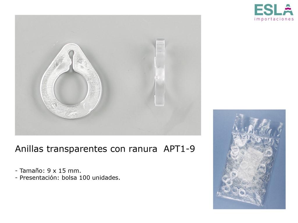ANILLAS TRANSPARENTES CON RANURA APT1-9