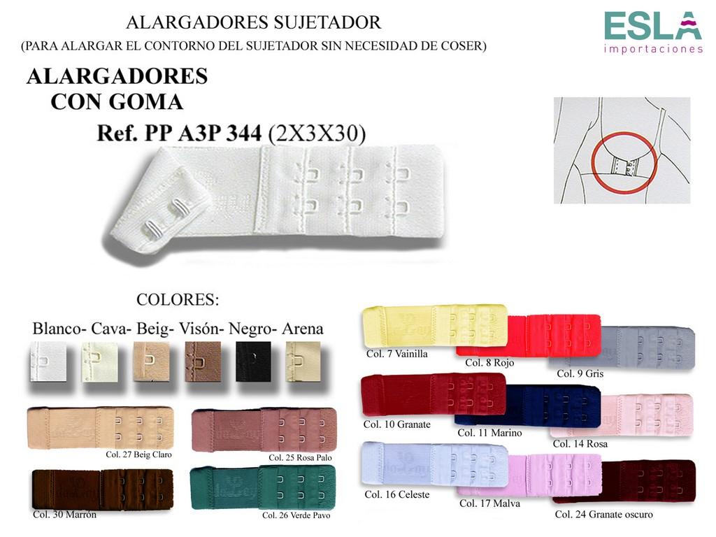 Alargador con goma PP A3P 344