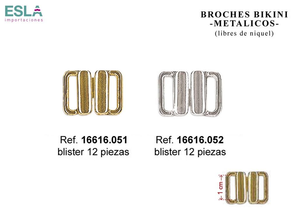 Broches bikini metal 16616.051 y 16616.052