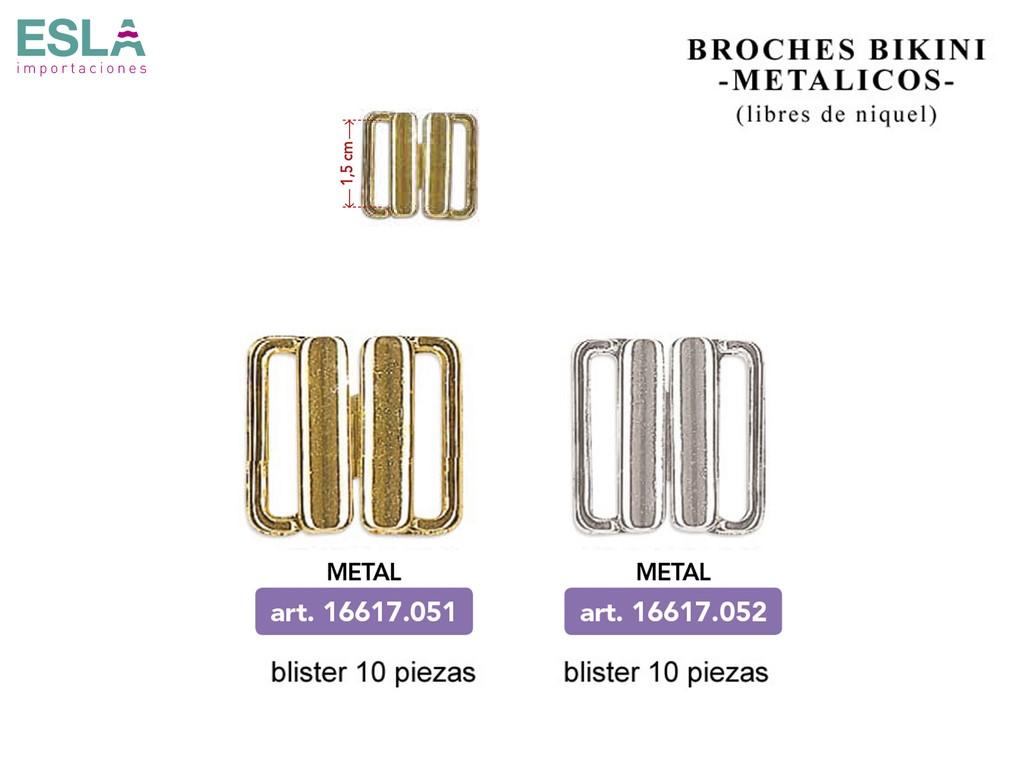 BROCHES BIKINI METAL 16617.051 - 16617.052