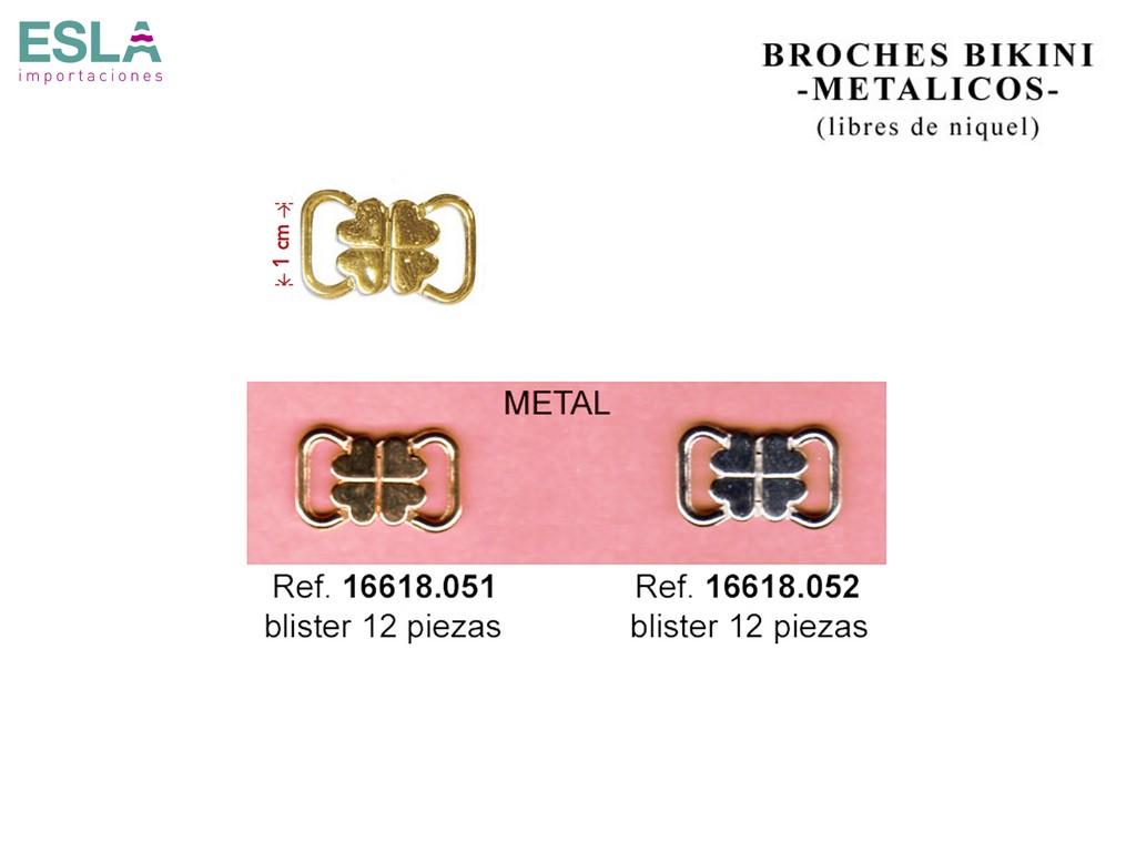 BROCHES BIKINI METAL 16618.051 - 16618.052