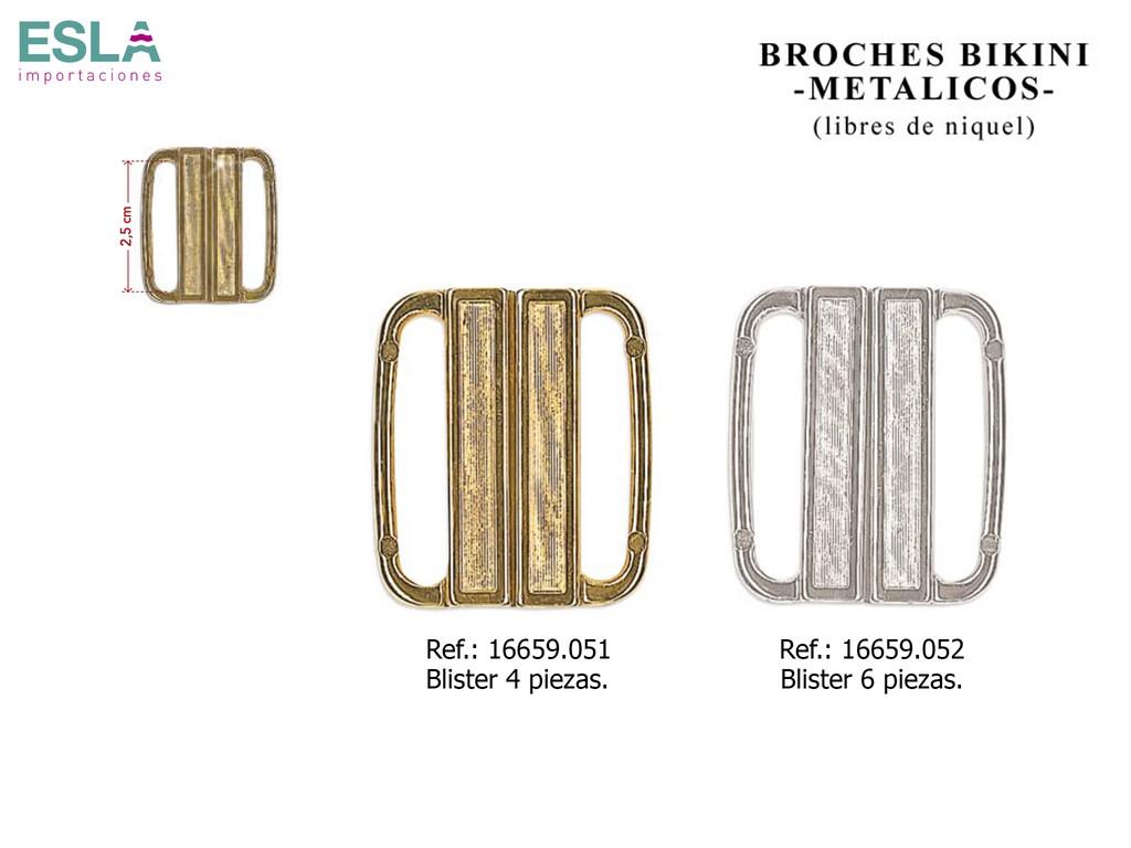 BROCHES BIKINI METAL 16659.051 - 16659.052