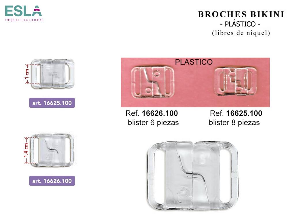 BROCHES BIKINI PLASTICO 16626.100 - 16625.100