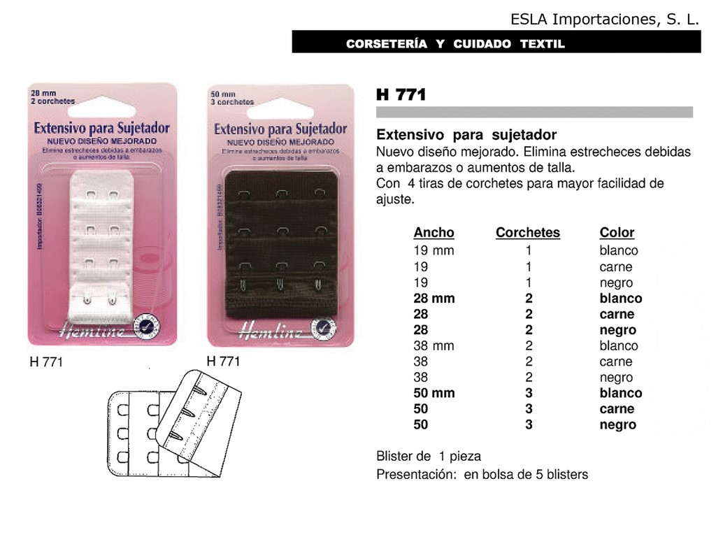 ALARGADOR DE SUJETADOR H771